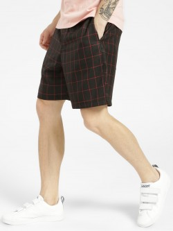 KOOVS Windowpane Check Regular Shorts
