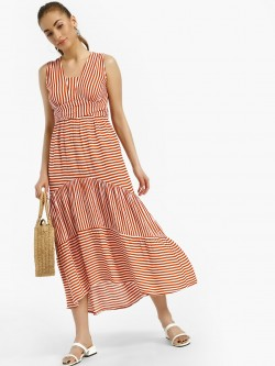 Rena Love Multi Stripe Tie Knot Midi Dress