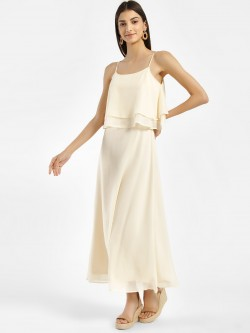 Femella Overlay Strappy Maxi Dress