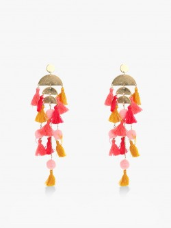 Style Fiesta Multi-Layered Tassel Earrings