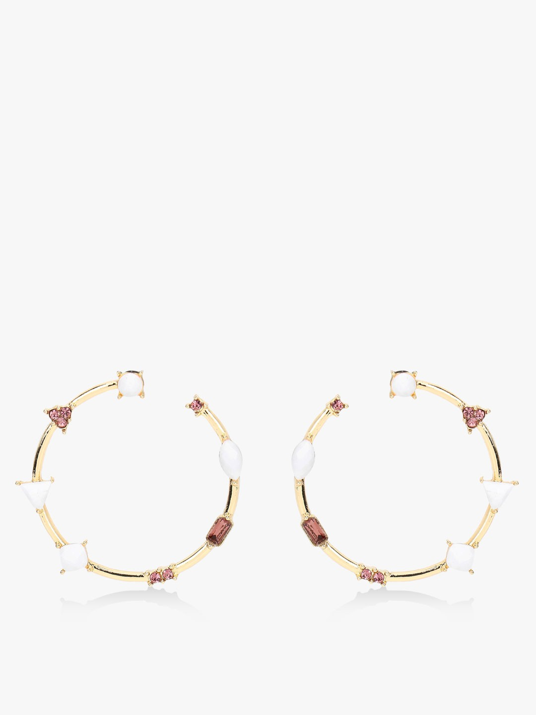 Style Fiesta Multi Crystal Embellished Hoop Earrings 1