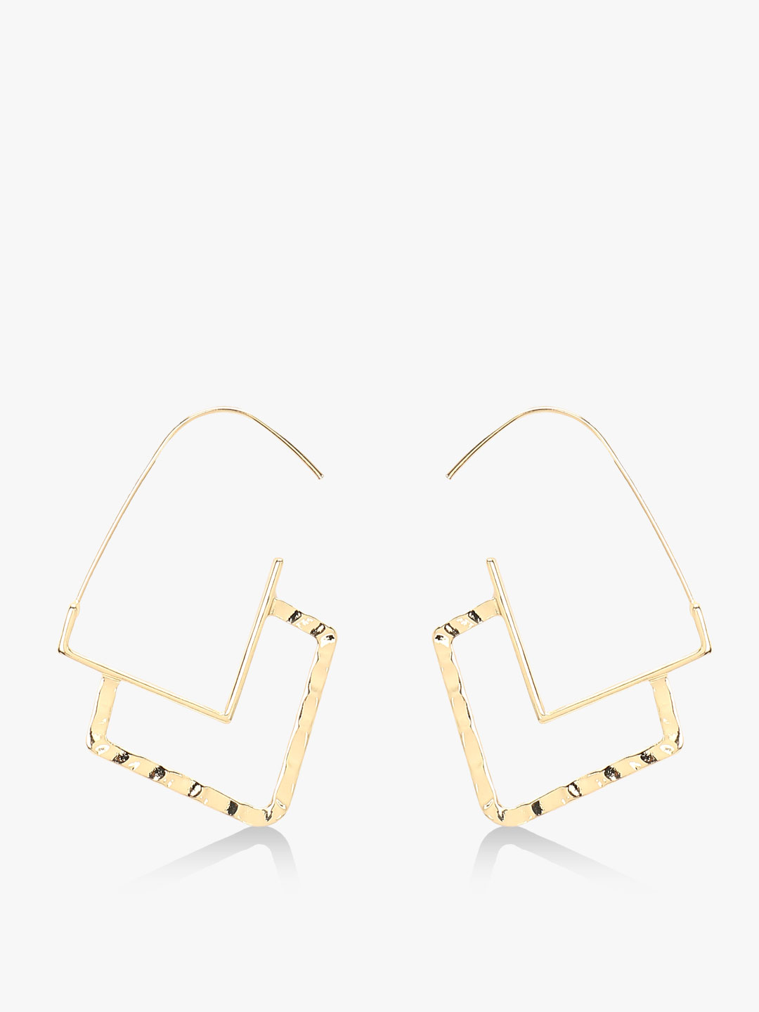 Style Fiesta Gold Geometric Statement Earrings 1