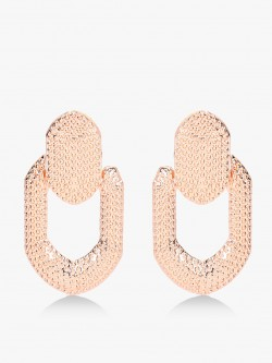 Style Fiesta Textured Carved Out Statement Earrings
