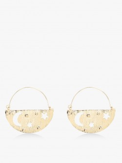 Style Fiesta Half Star & Moon Earrings