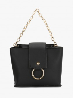 Style Fiesta O-Ring Chain Detail Sling Bag