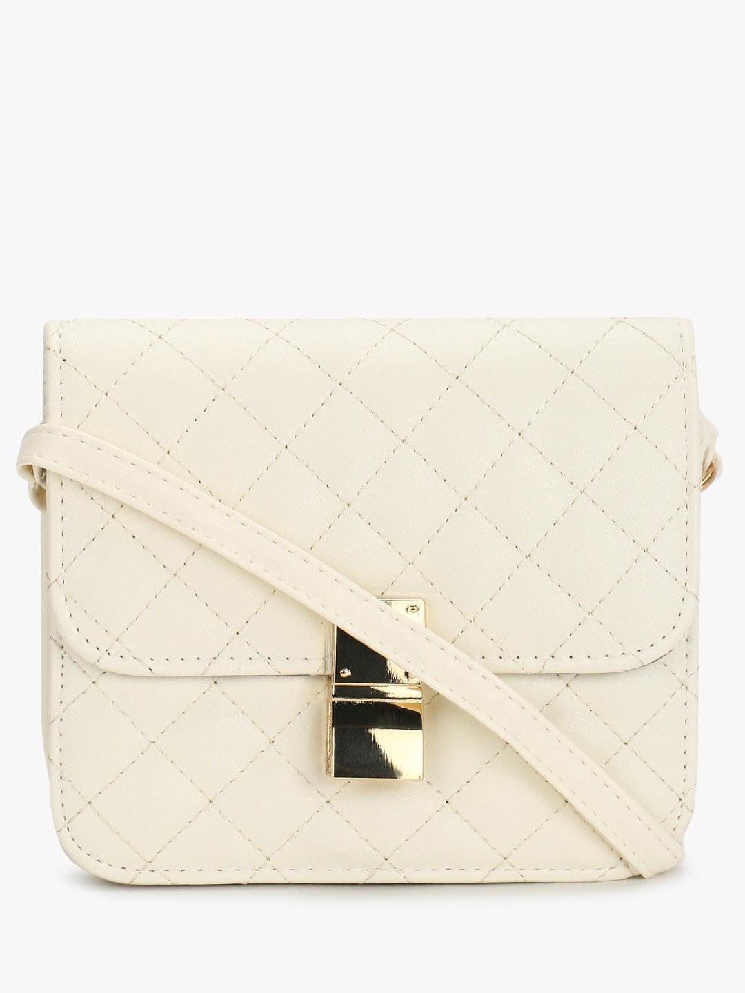 Style Fiesta White Quilted Sling Bag 1