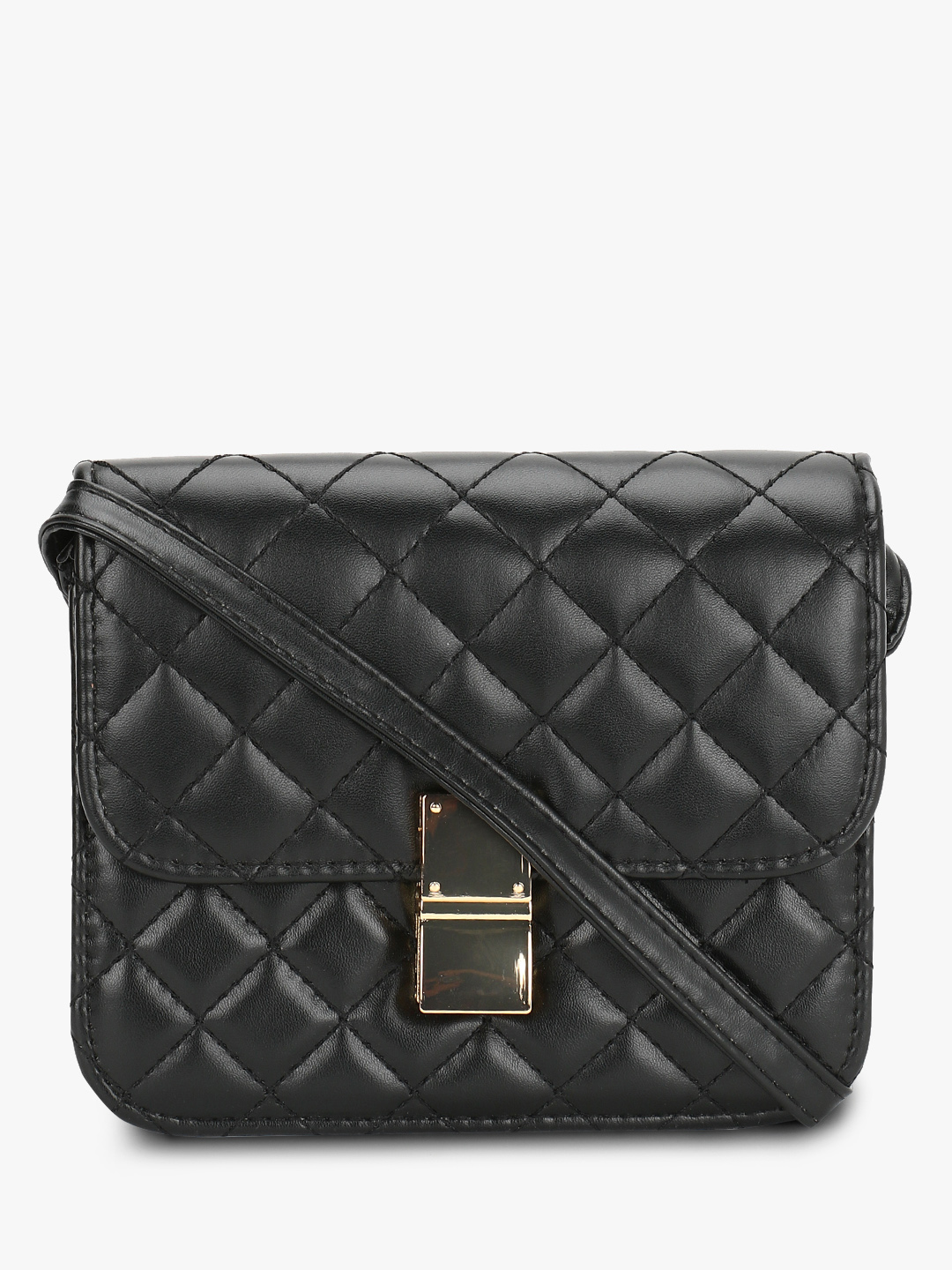 Style Fiesta Black Quilted Sling Bag 1