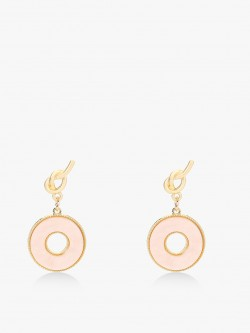 Style Fiesta Marble Twist Knot Drop-Down Earrings