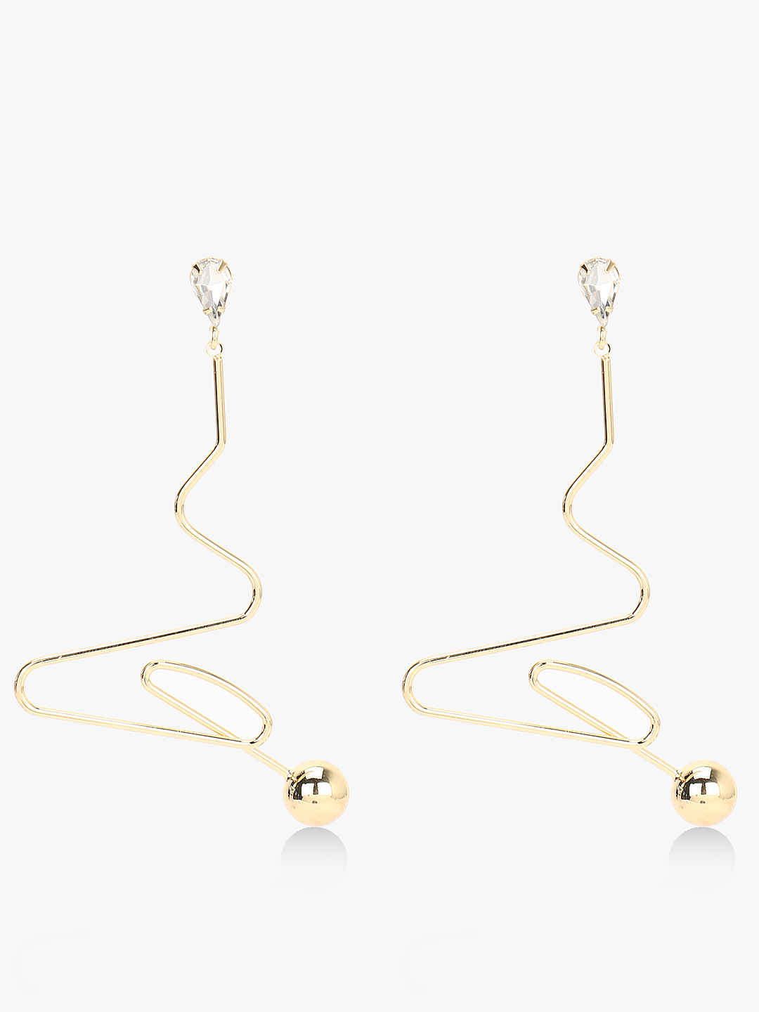 Style Fiesta Gold Abstract Hanging Earrings 1