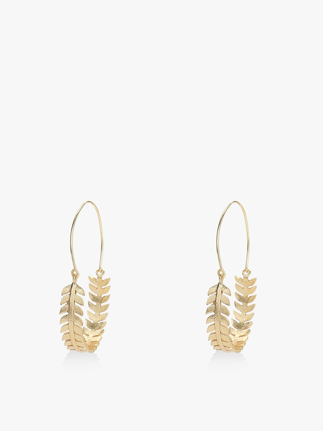 Style Fiesta Gold Leaf Detail Statement Hoops 1