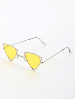 Style Fiesta Triangular Frame Retro Sunglasses