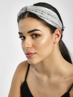 Style Fiesta Shimmer Embellished Twisted Headband