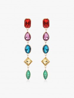 Style Fiesta Multicolour Stone Statement Earrings