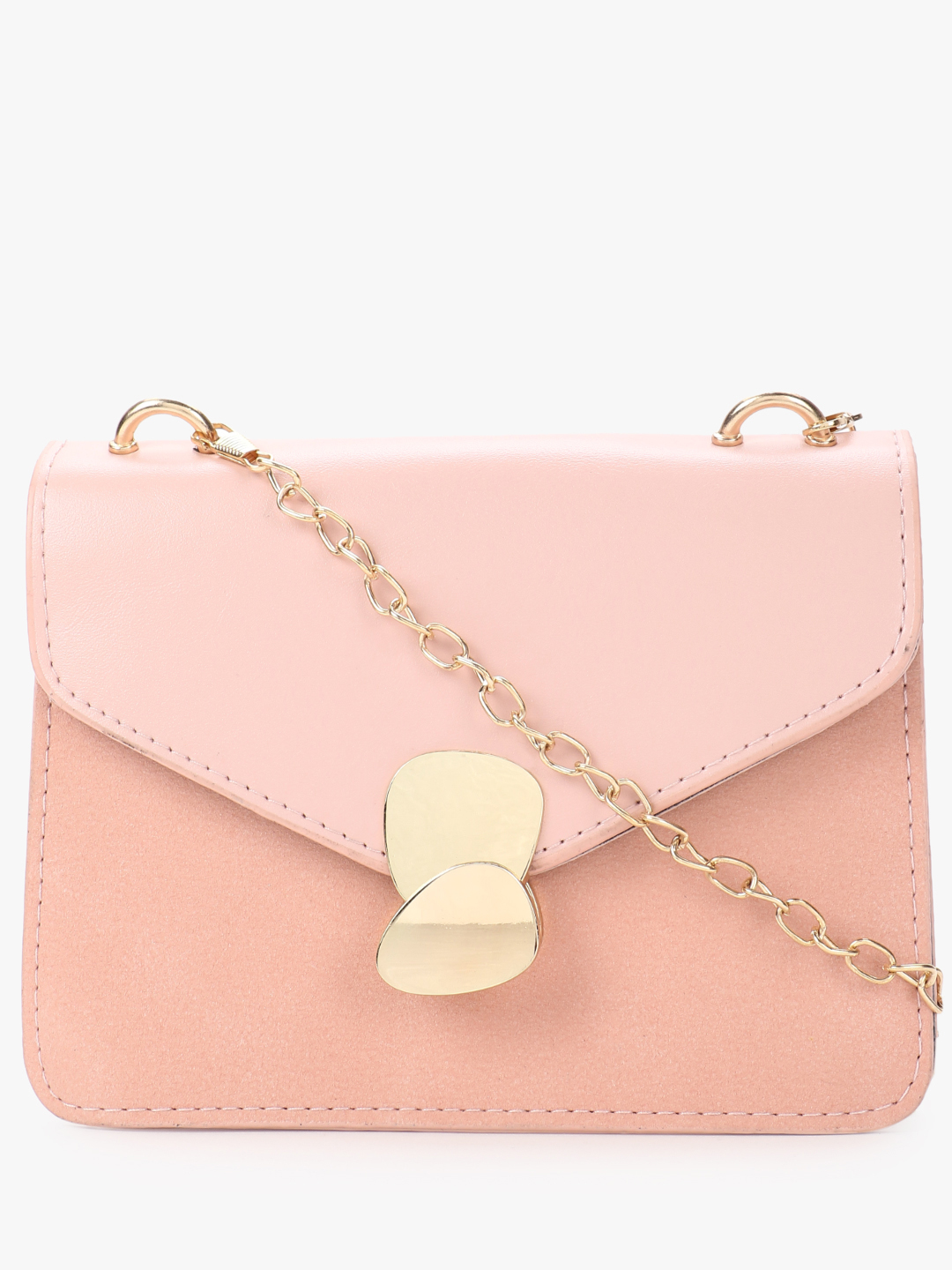 Style Fiesta Pink Two-Tone Asymmetric Hook Sling Bag 1