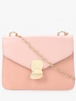 Style Fiesta Two-Tone Asymmetric Hook Sling Bag