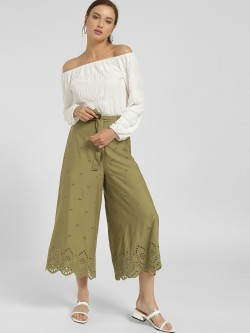 KOOVS Broderie Tie-Knot Culottes