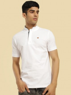 Buffalo Basic Mandarin Collar Polo Shirt