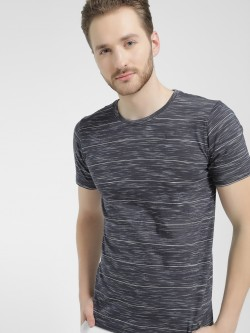 Buffalo Round Neck Striped Print T-Shirt