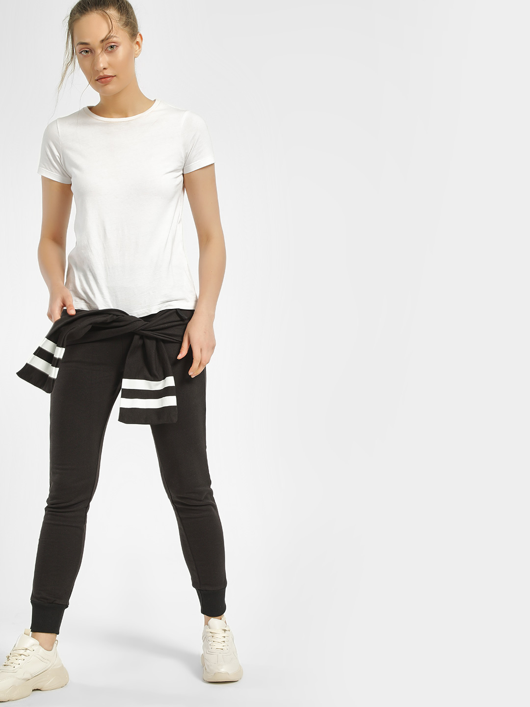 Kultprit Black Striped & Attached Panel Joggers 1