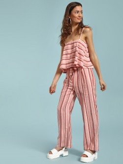 Beyond Clouds Multi Stripe Tie Waist Trousers