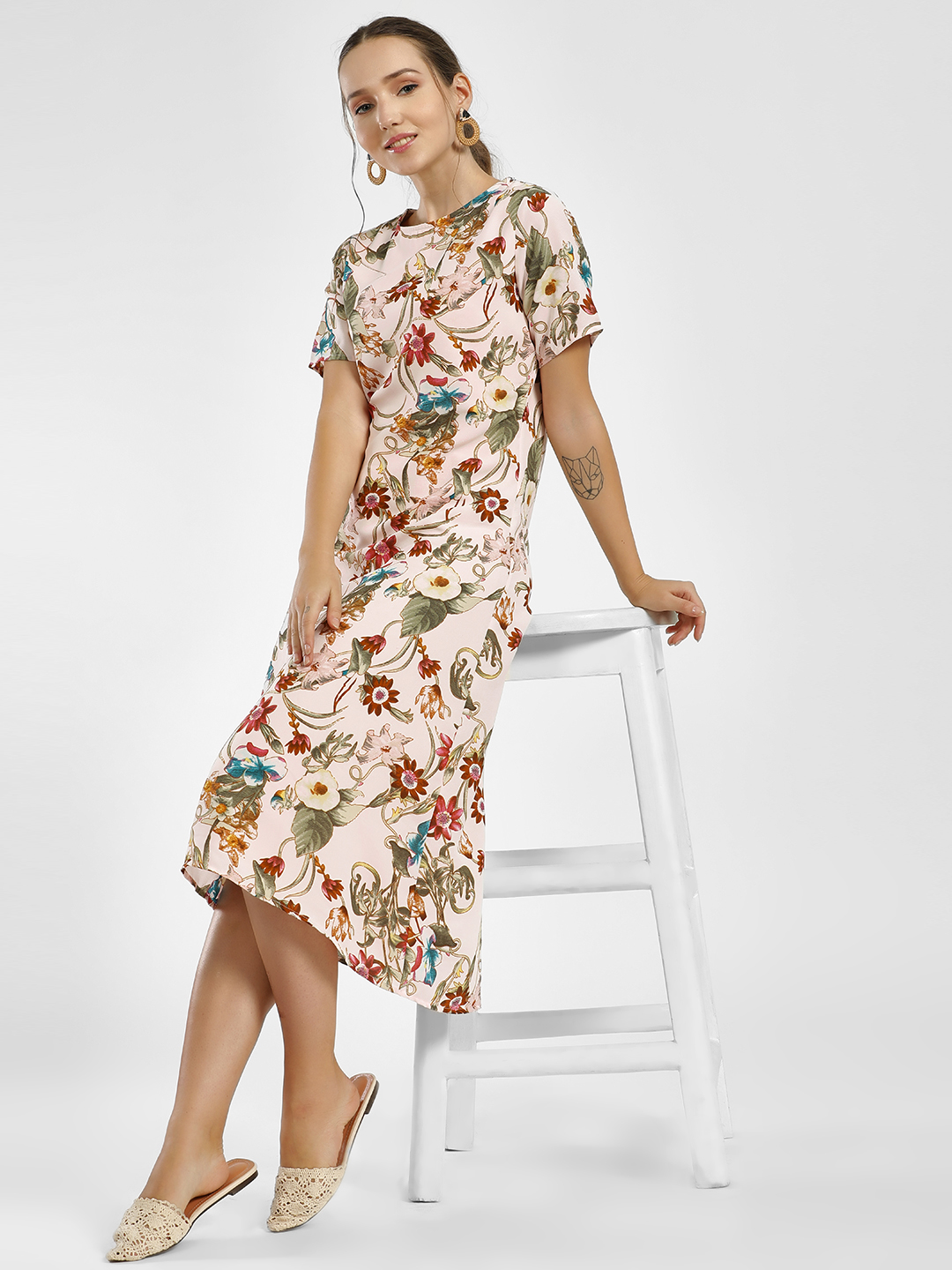 Femella Multi Floral Print Midi Dress 1