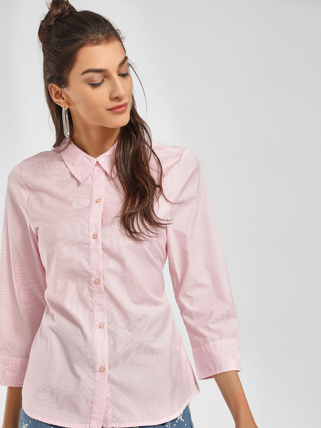 PostFold Pink Back Tie-Up Shirt 1