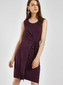 PostFold Front Wrap Shift Dress