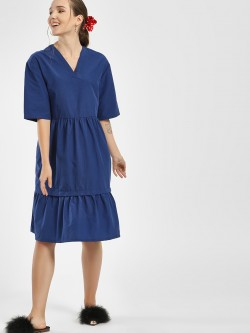 Bhaane Multi-Tier Midi Dress