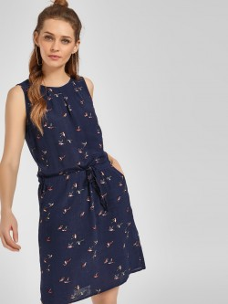 LC Waikiki Bird Print Shift Dress