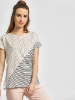 LC Waikiki Front Geometric Stripes Blouse