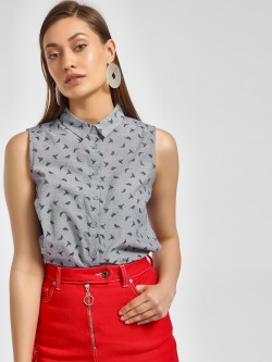 LC Waikiki Bird Print Sleeveless Shirt