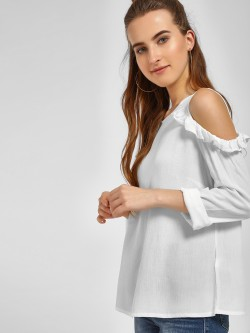 LC Waikiki Frill Cold Shoulder Blouse