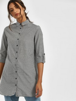 LC Waikiki Gingham Check Tunic Top