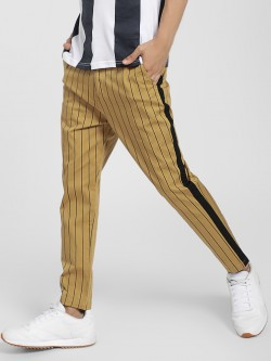 Spring Break Stripe Side Tape Cropped Trousers