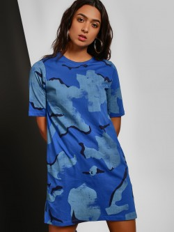 Disrupt Camo Print T-Shirt Dress