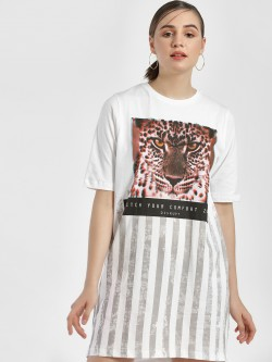 Disrupt Tiger Print T-Shirt Dress