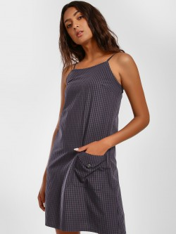 Disrupt Strappy Grid Check Shift Dress