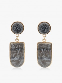 Blueberry Marble Texture Earrings