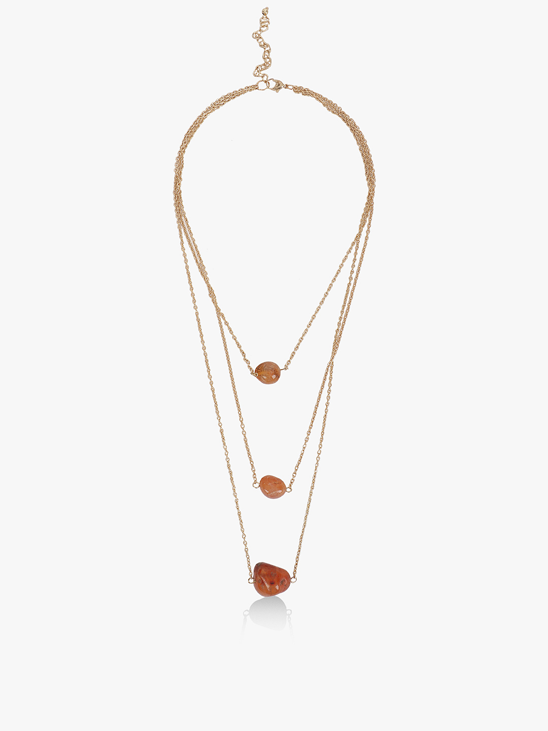 Blueberry Gold Stone Multi-Chain Layered Necklace 1