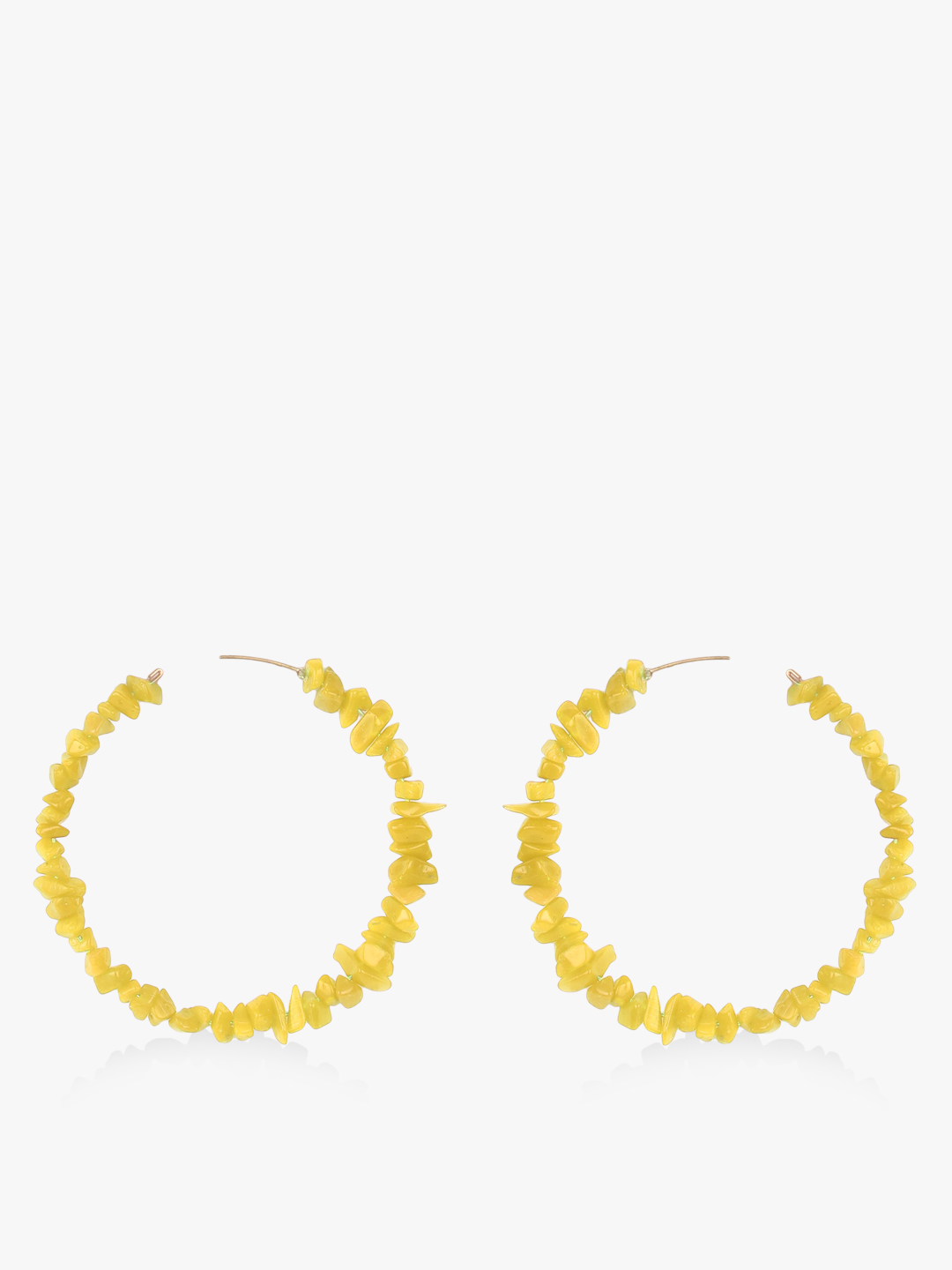 Blueberry Yellow Mini Beads Design Hoops 1