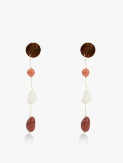 Blueberry Stone Drop Earrings