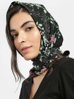 Blueberry Floral Print Head Scarf