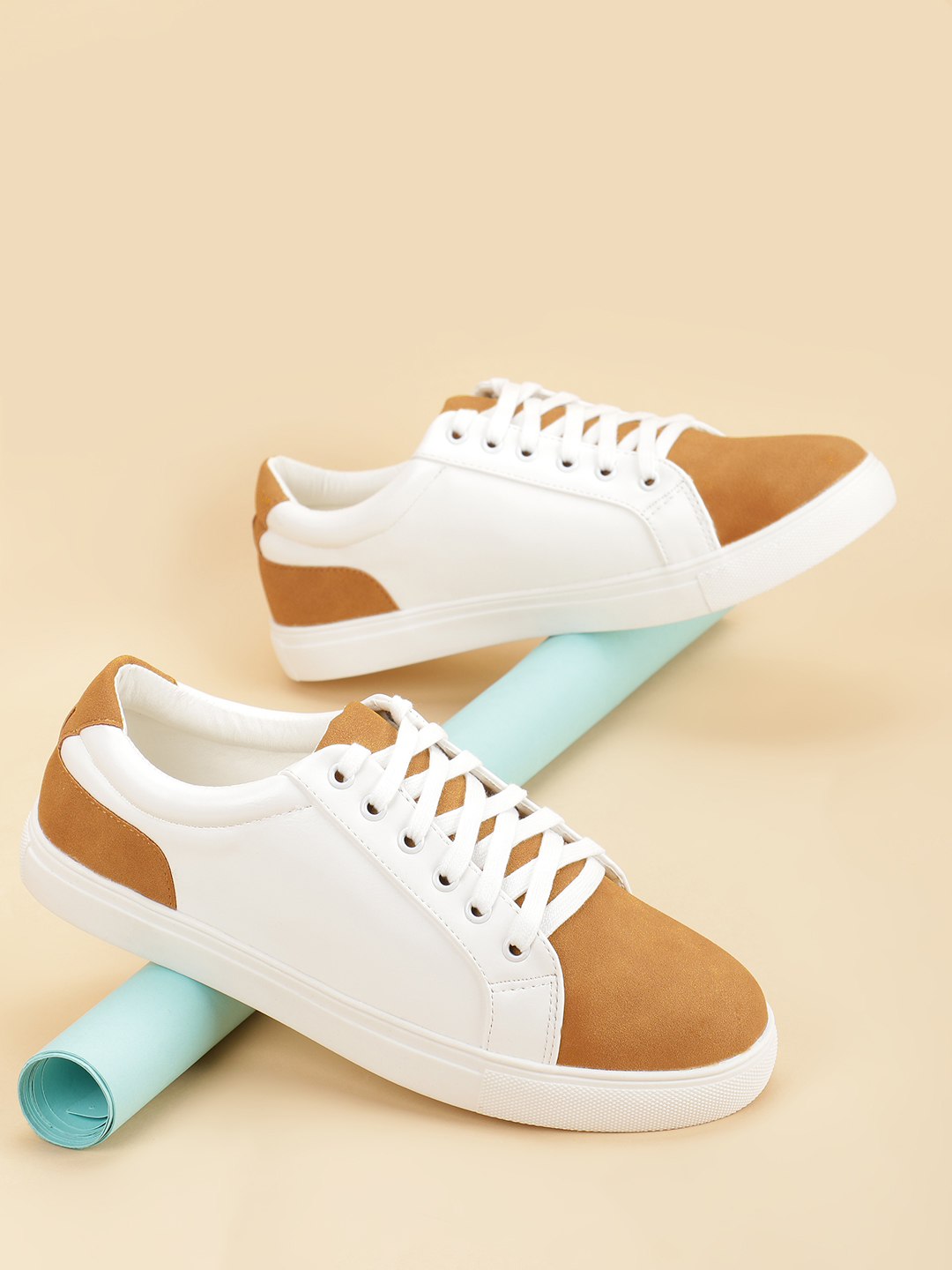 My Foot Couture White Suede Colour Block Sneakers 1