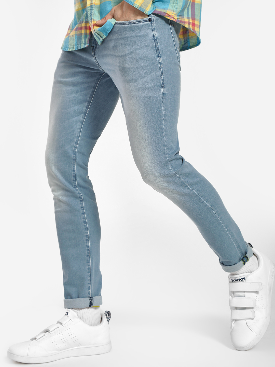Flying Machine Blue Light Wash Skinny Jeans 1