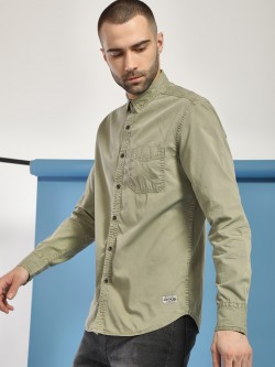 Flying Machine Overdyed Casual Shirt
