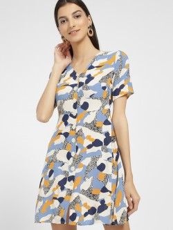 Only Abstract Print Shift Dress