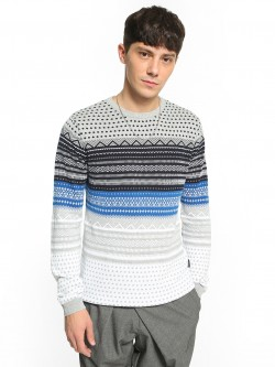 KOOVS Fair Isle Knitted Sweater
