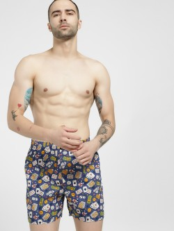Jack & Jones Casino Poker Card Print Boxers
