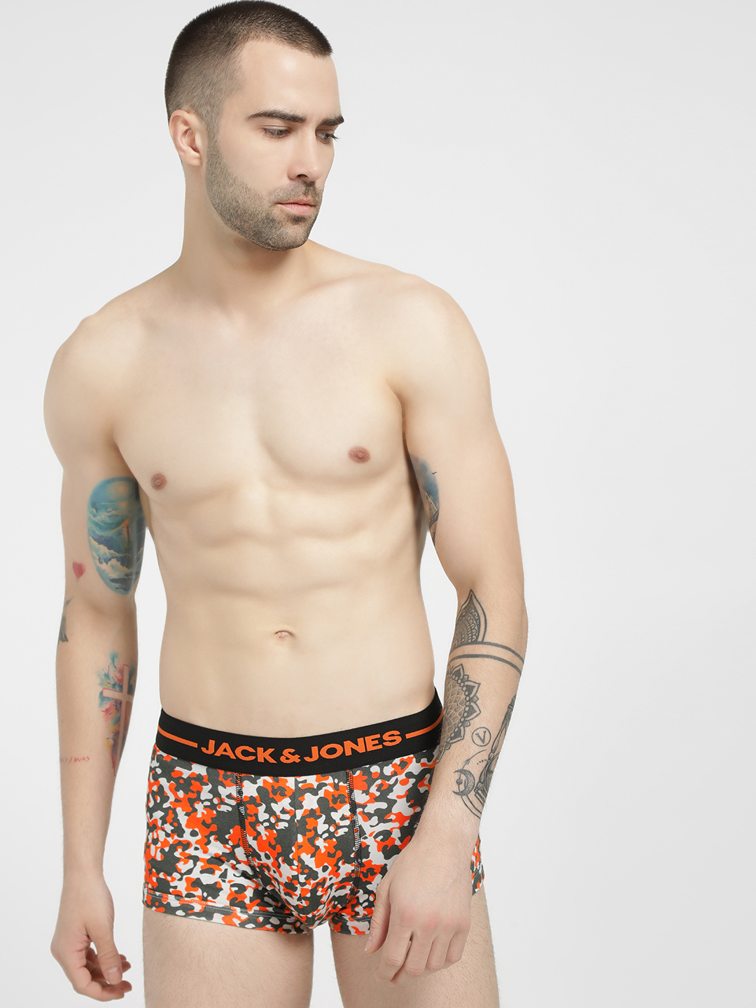 Jack & Jones Multi Honey Camo Print Trunks 1