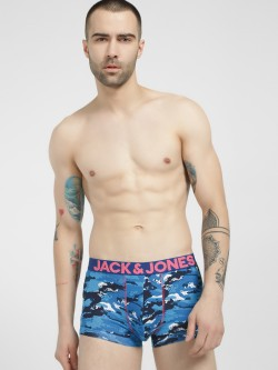 Jack & Jones Splatter Camo Print Brazilian Trunks
